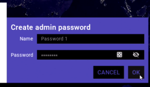 Membrane Control, creating an admin password